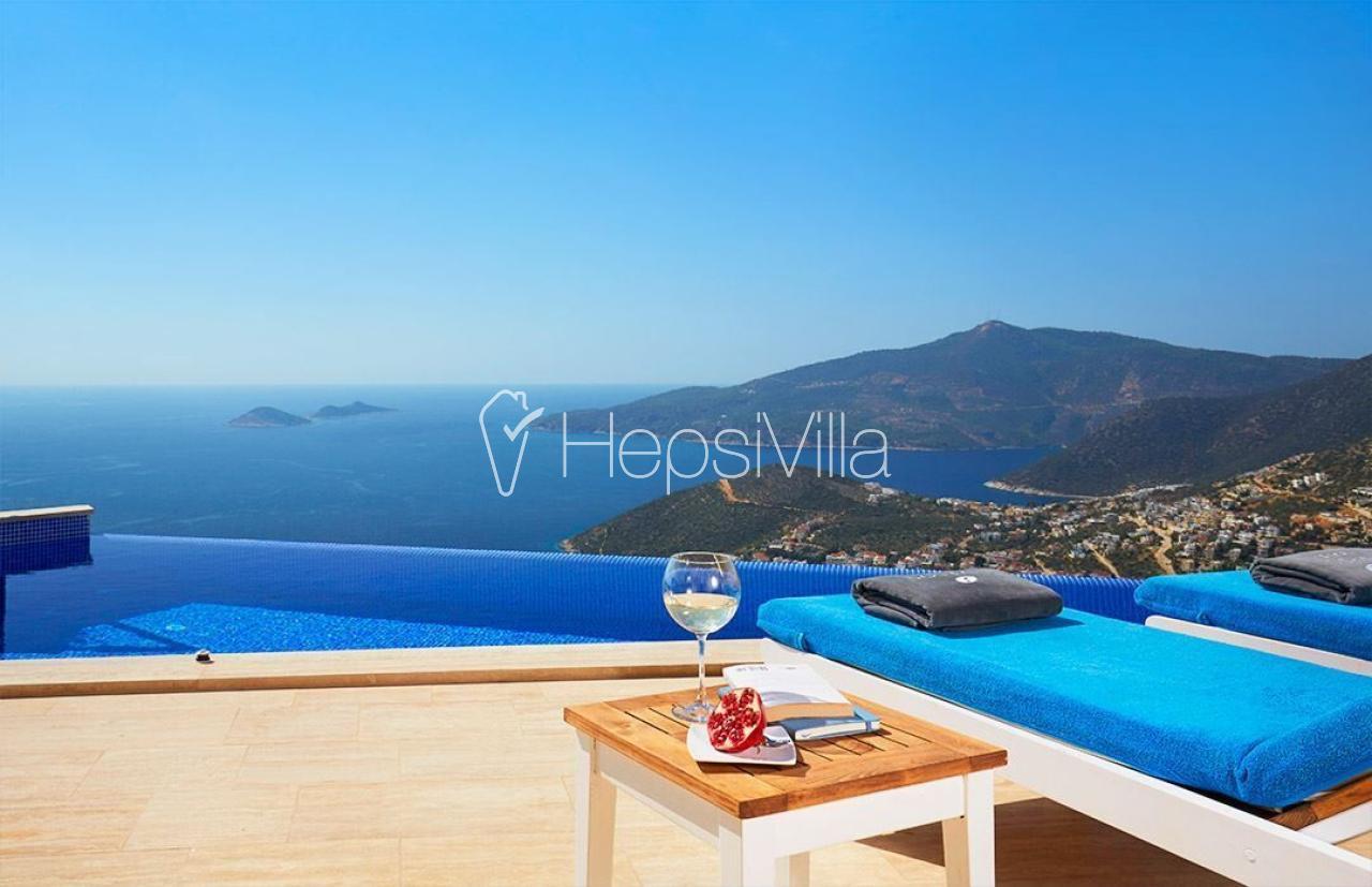 villa zest 3 odalı deniz manzaralı korunaklı tatil villası. - Hepsi Villa