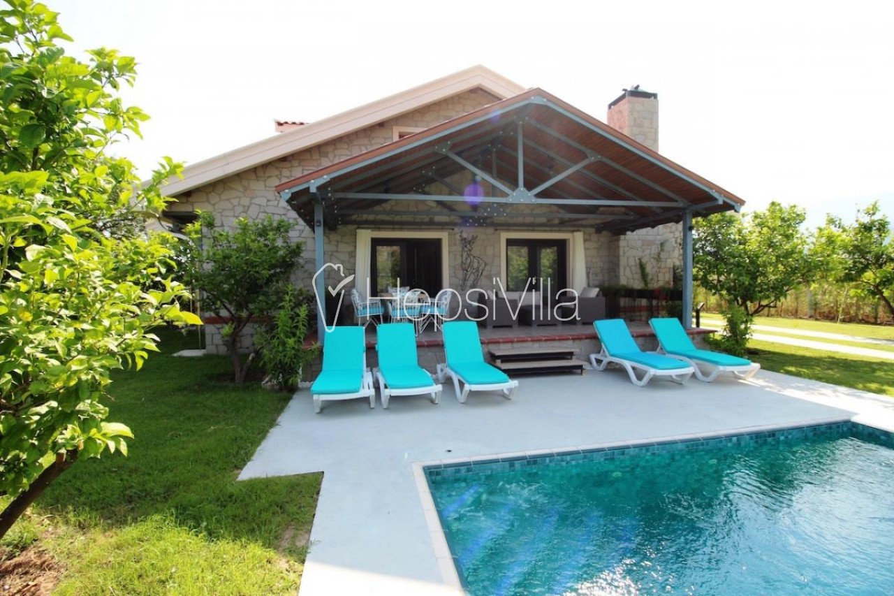 Villa Alcedo, Dalyan'da Bulunan 8 Kişilik Özel Tasarımlı Villa - Hepsi Villa