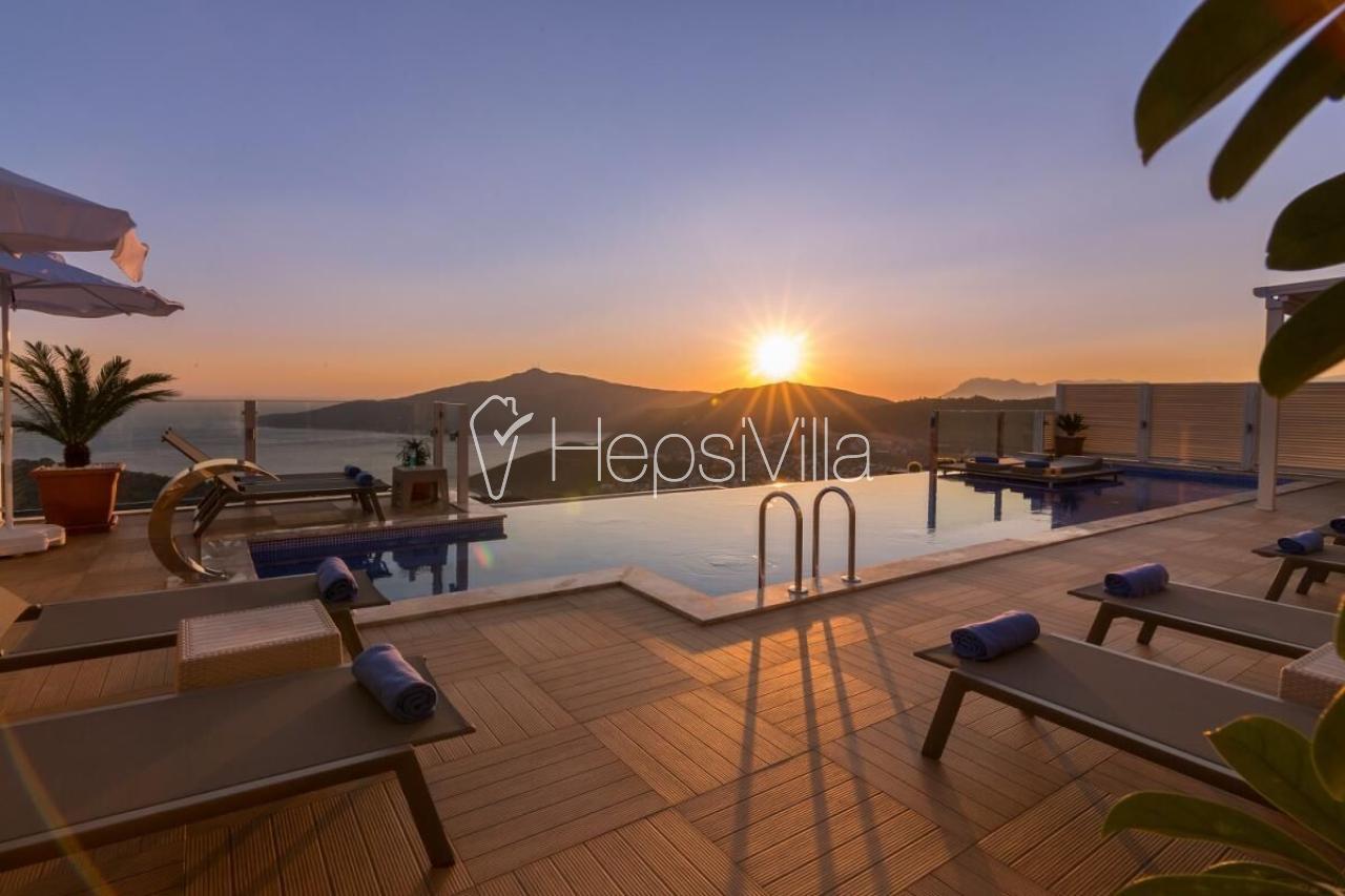 Villa Azur Kalkan Kördere'de 4 Yatak Odalı Ultra Lüks Villa - Hepsi Villa