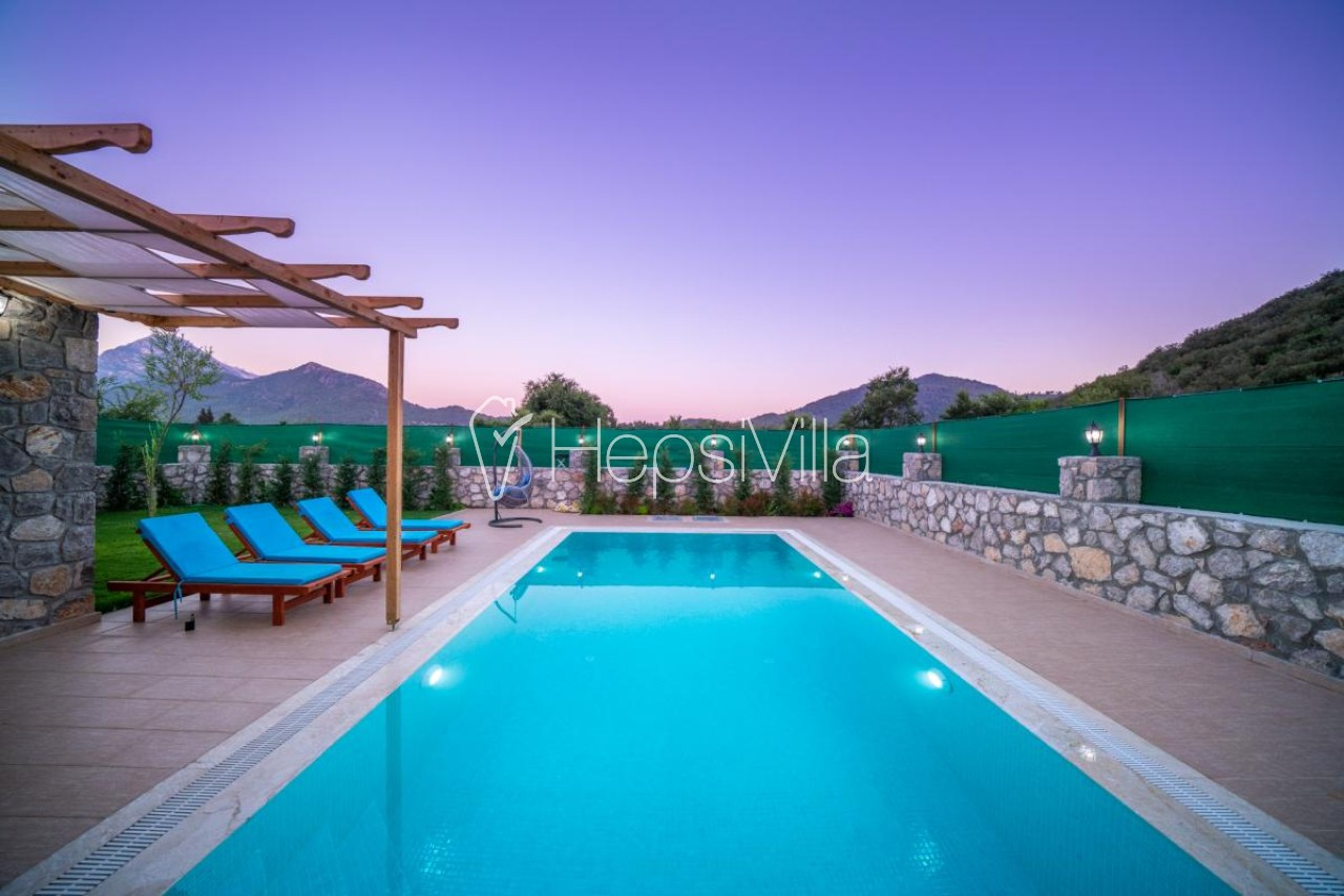 Villa Bella Kayaköy'de 3 Odalı Korunaklı Havuzlu Villa - Hepsi Villa