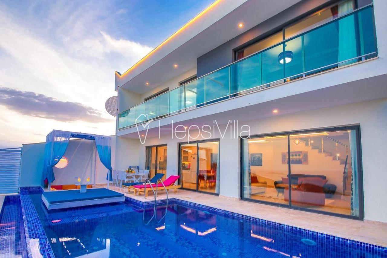 Villa Etiler, Deniz Manzaralı 4 Kişilik Korunaklı Villa - Hepsi Villa