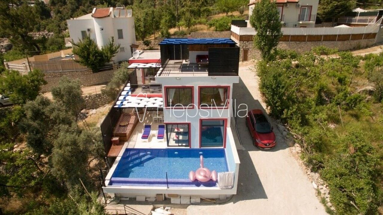 Villa Macera, Kalkan İslamlar'da Jakuzili, Saunalı Özel Villa - Hepsi Villa