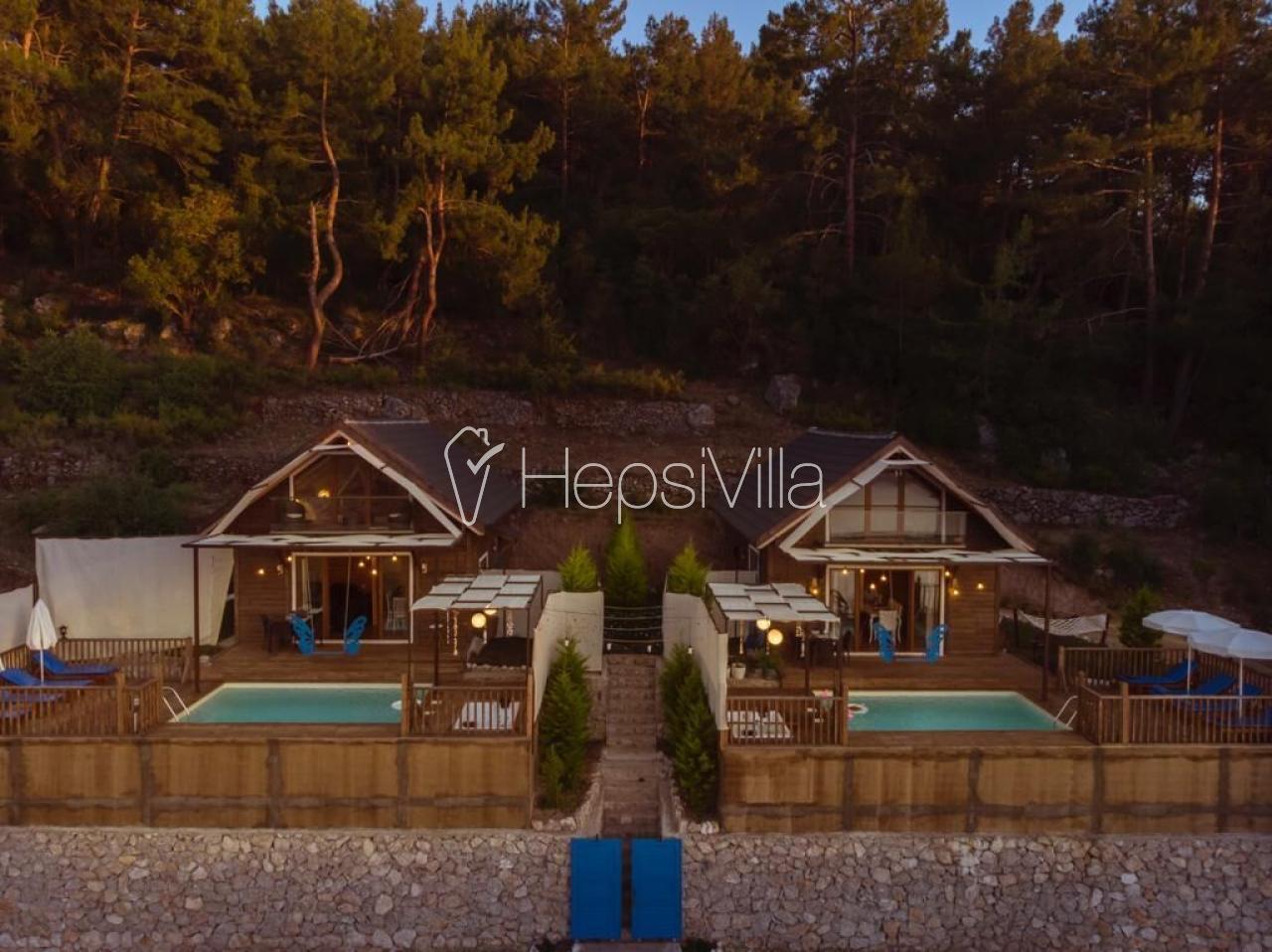 Villa view 2, Doğa içinde Konuklanmış 2 Odalı Havuzlu Villa. - Hepsi Villa