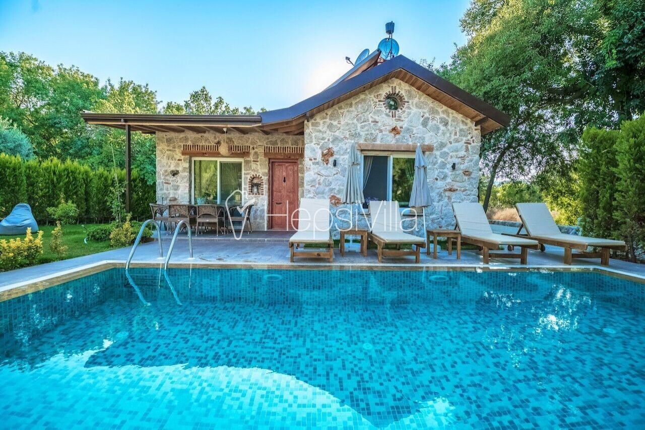Villa Leda Kayaköy'de 2 Odalı Havuzu Korunaklı Tatil Villası. - Hepsi Villa