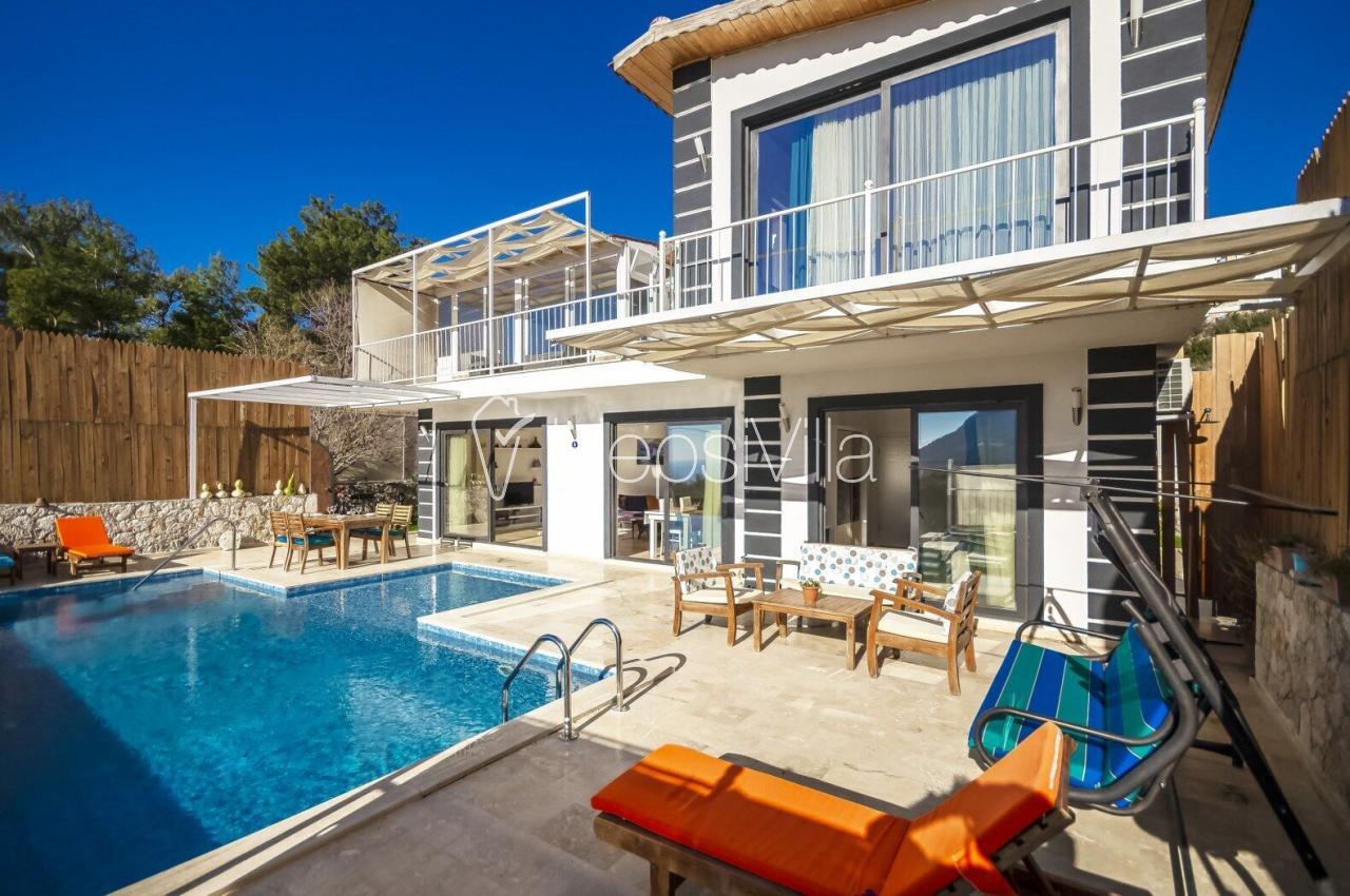 Villa Feta, Kalkan İslamlar'da 4 kişilik Özel Havuzlu Villa - Hepsi Villa