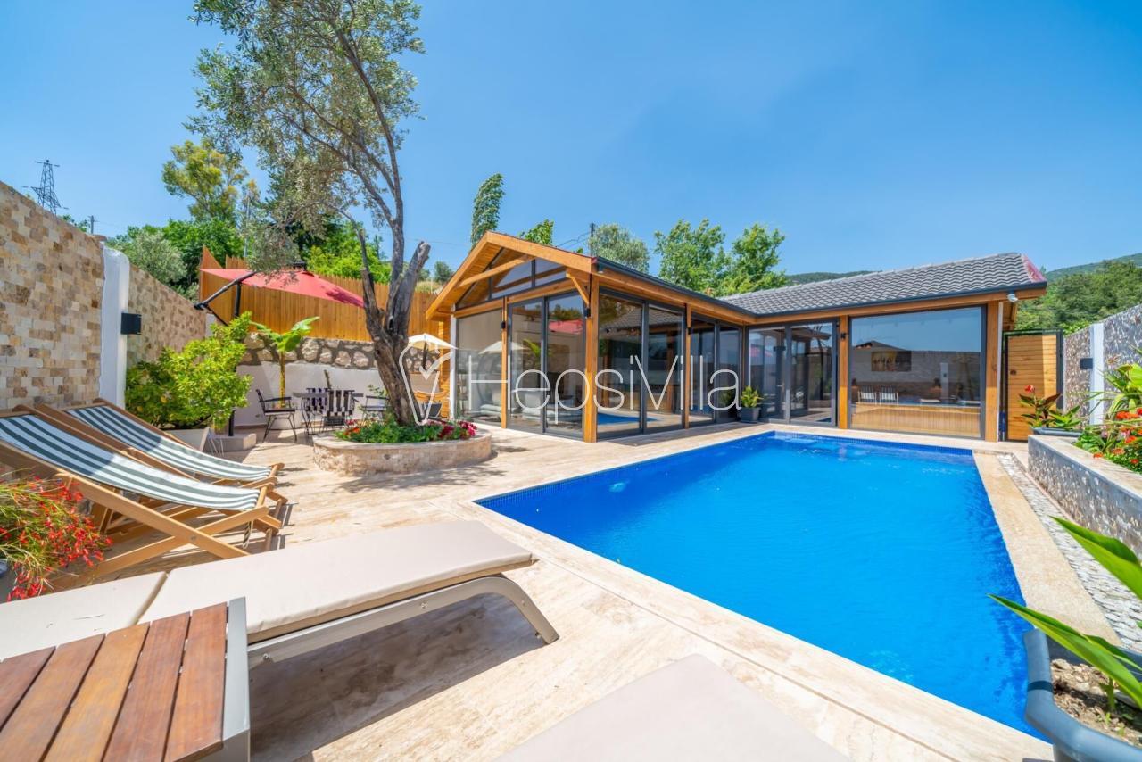 Villa Deniz, Kalkan İslamlar'da Korunaklı Özel Havuzlu Villa - Hepsi Villa