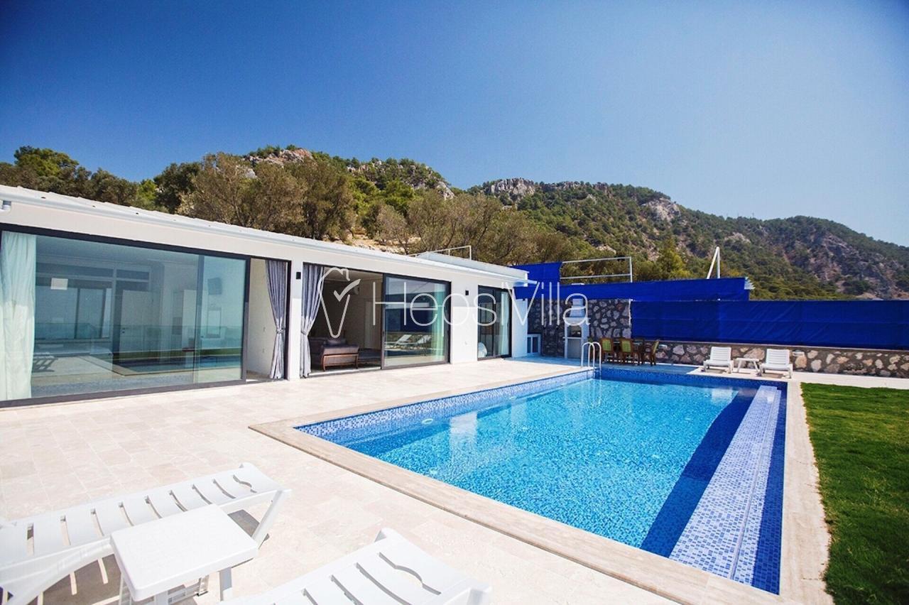 Villa Huzur Yalı, Kalkan Patara'da Korunaklı 4 Kişilik Villa - Hepsi Villa