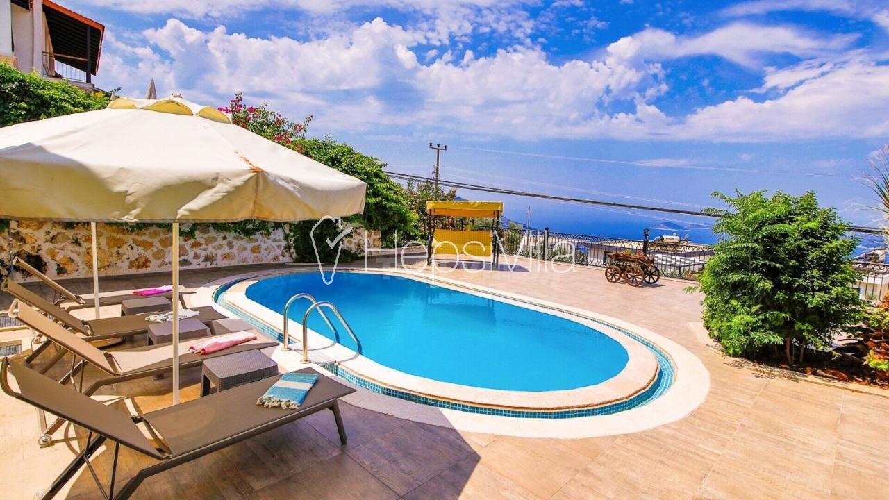 Villa Almula, Kalkan Kördere'de 6 Kişilik Deniz Manzaralı Villa - Hepsi Villa