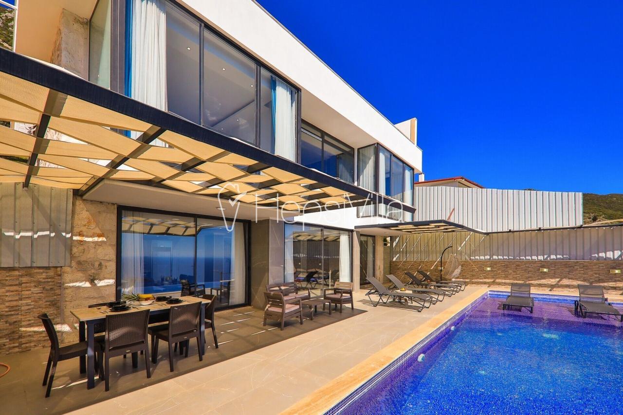 Villa Kivi,Kalkan Kördere'de Deniz Manzaralı Lüks Korunaklı Villa - Hepsi Villa