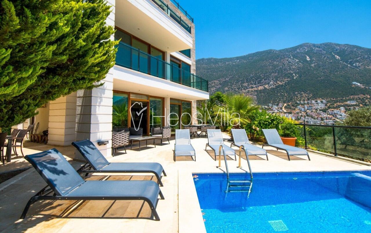 Villa Panorama, Kalkan Ortaalan'da Lüks 9 Kişilik Villa - Hepsi Villa