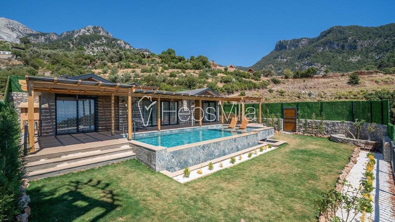 Villa Enjoy 2, Fethiye Kirme'de 4 Kişilik Deniz Manzaralı Villa - Hepsi Villa
