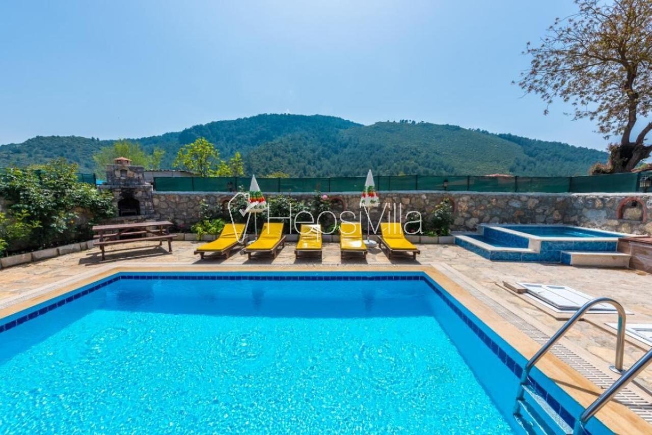 Villa Afrodit, Fethiye Kayaköyde havuzu korunaklı islami villa - Hepsi Villa