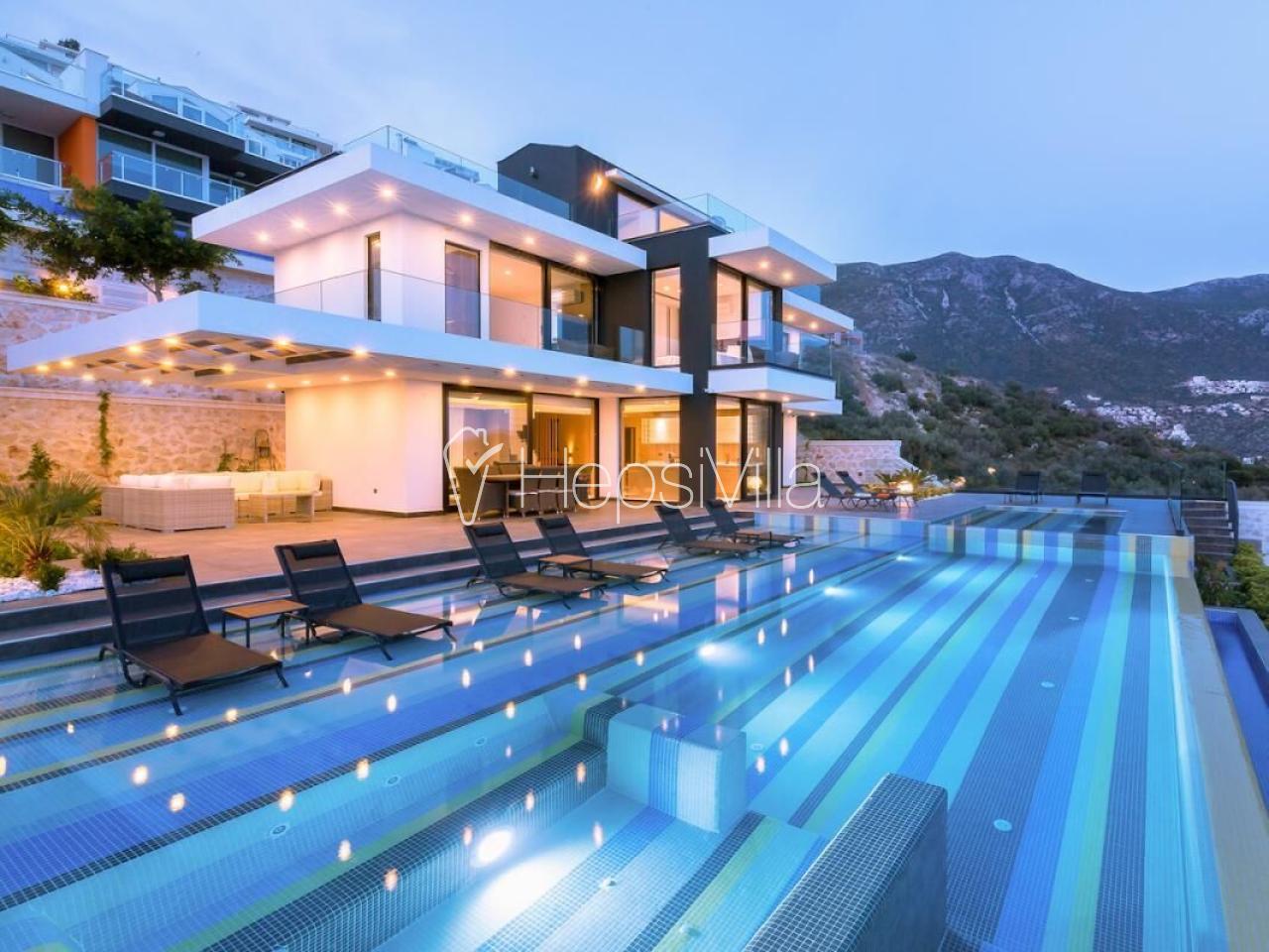 Villa Vogue, Kalkan'da Ultra Lüks 5 Odalı Kiralık Villa. - Hepsi Villa