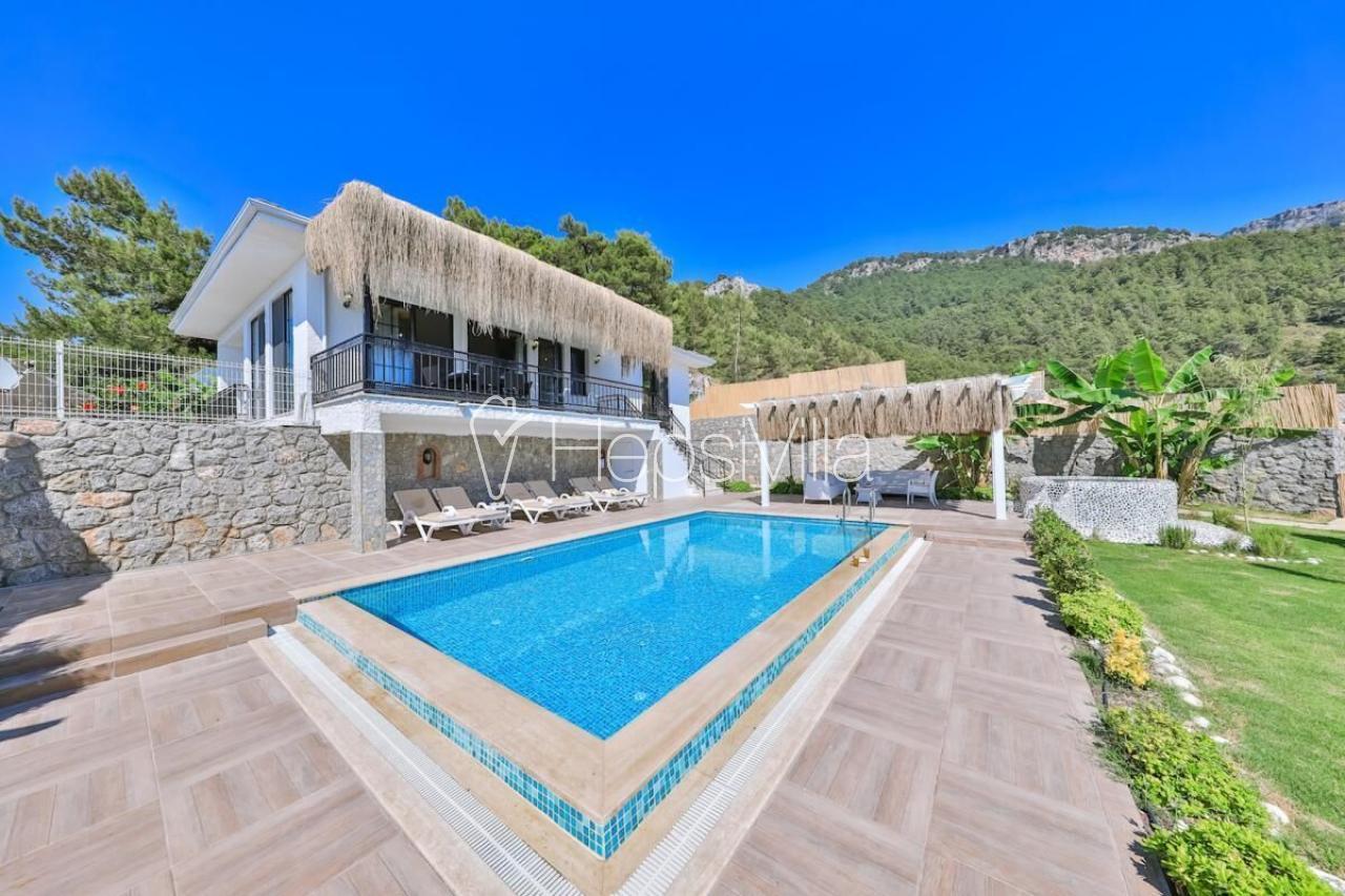 Villa Kelebek, Ölüdeniz Faralya'da 3 Odalı Havuzu Korunaklı Villa - Hepsi Villa